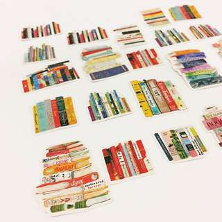 Set 9 : 22 pieces of book lover stickers