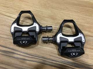 Shimano Ultegra 6800 carbon SPD Pedals with free Yellow cleats