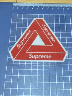 Supreme glass decals