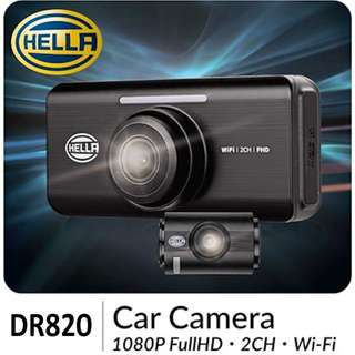 HELLA DR820 / 2-channel 1080P Full HD Car Camera