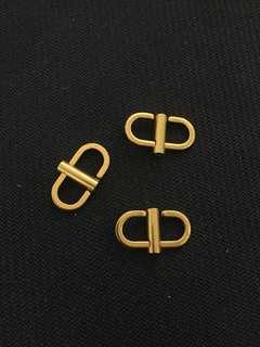 復古金色 袋鍊縮短扣 Chanel
