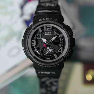 Authentic Brand New Casio BABY-G × HELLO KITTY LIMITED EDITION BGA-190KT-1A In Black Ladies Watch BGA190 BGA190KT  BGA-190KT BGA190KT-1 BGA-190KT-1
