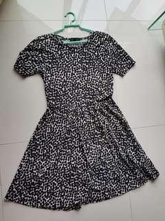 Cotton On Black white dots dress.