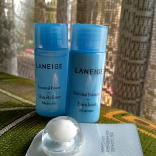Laneige trial kit moisturizer + sleeping pack