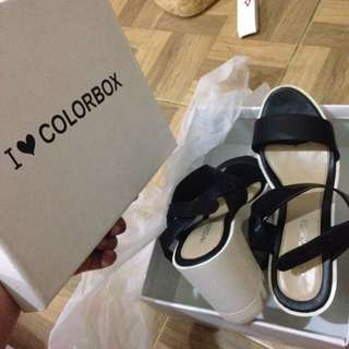 Colorbox black and white shoes