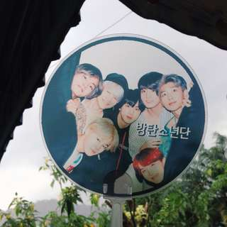 Bts transparent handfan