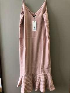Brand New Zalora Something Borrowed Hem Cami Midi Dress Size S