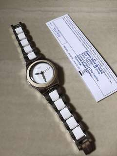 White ceramic stainless steel SWATCH
