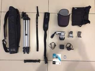 Sony Nex 5T package SEL1855 lense + HVLF20S Flash + tripod + crossbody strap