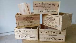 5 original wine boxes