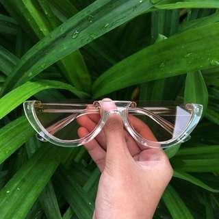 Clear Half Frame Sunglasses