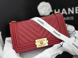 CHANEL CHEVRON BOYBAG AUTHENTIC GRADED