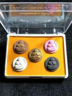 LP Kloy Pidta Set of 5pcs (Thai Amulet)