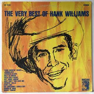 Hank Williams ‎– The Very Best Of Hank Williams (1960s US Pressing - Vinyl is Excellent)