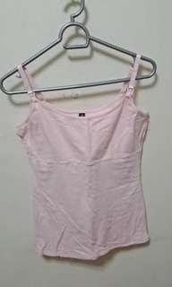 GIGI AMORE Pink Nursing Top
