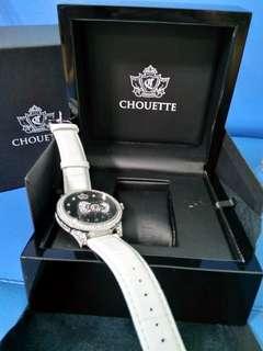 Chouette氣質Kitty鑽飾腕錶