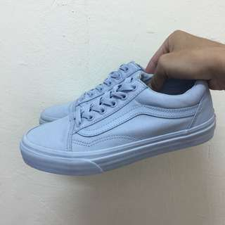 vans old skool 粉藍 天空藍 us7(23.5cm) white authentic era