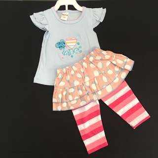 Baby Girl Cute Floral Leggings Set Wear SB 027