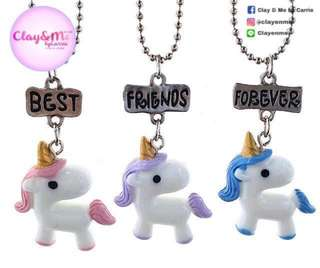 Unicorn BEST FRIENDS FOREVER chain necklace