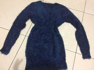 sweater bulu furr navy