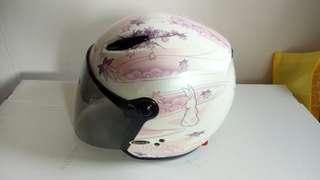 SOL 全罩安全帽 月兔 粉色