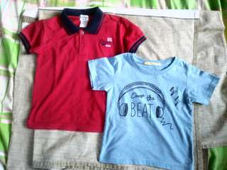 Lot of 2 shirts for 2yrs old boy - P200 + sf