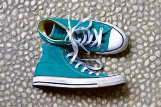 Converse High Top in Dark Teal