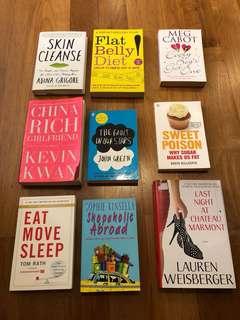 Fiction Health Romance Books for RM15 each