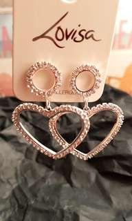 NEW Hypoallergenic Heart Diamond Drop Earrings (Australia)