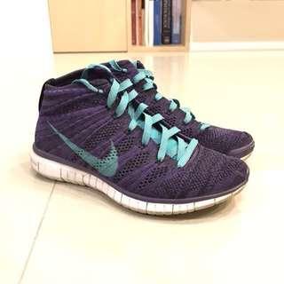Nike free flyknit chukka 女碼 us6.5 23.5cm 飛線 赤足