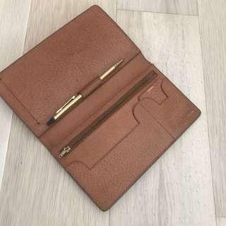 Vintage leather wallet 記事包 leather case