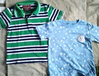 Lot of 2 shirts for 2yrs old boy - P200 + sf Brand: Abercrombie&Fitch, SM