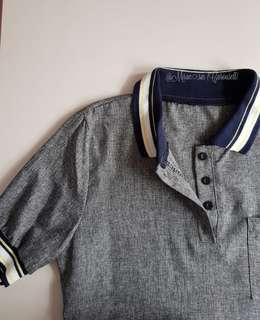 🚚 A009 🆕️ 🆕 Grey Jersey Preppy Style Polo Shirt dress | Student Jersey stripe babydoll dress | Ulzzang sporty Polo dress | Korea/Harajuku style polo tee dress | Buttons down varsity collared dress [INSTOCK!!] < Clearance sale>
