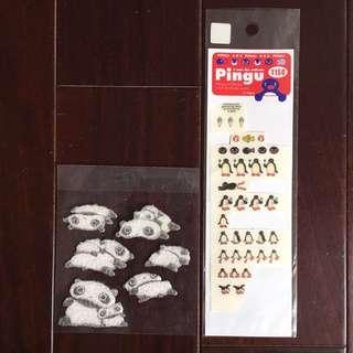 趴趴熊 Pingu 企鵝家族 貼紙 紀念 收藏 日本