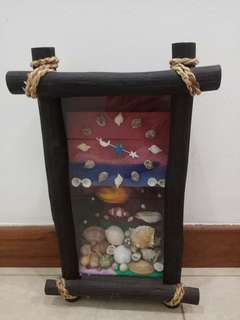 Handmade Seashells clock