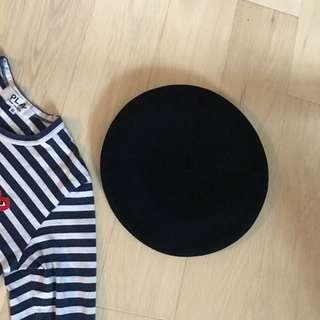 Vintage french beret 法國畫家帽
