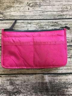 🚚 桃色內襯收納袋包包
