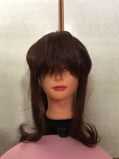 Long brown wig with clip on tail (sailor jupiter)