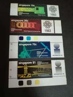 Singapore Stamps Satellite and Lighthouse 1983
