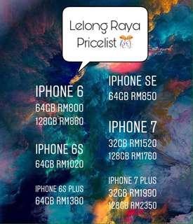 Iphone's Raya Pricelist 🔥