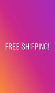 FREE SHIPPING WORTH 500 PLUS!