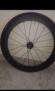 70mm carbon fibre front wheel
