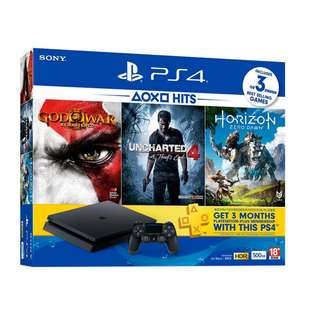 PS4 SILM 500GB ( BLACK ) HITS BUNDLE $449