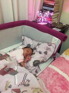 Chicco next to me baby bed with musical night lamp