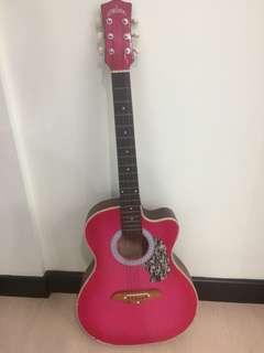 Pink Acoustic Guitar RUSH SALE