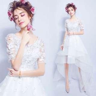 🚚 前短後長新娘婚紗禮服