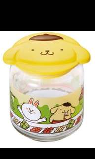 Pompompurin 7-11 glass container
