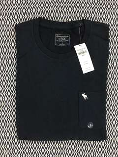 (S) Authentic A&F Long Sleeves Icon Pocket Tee