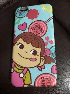 Peko牛奶妹iphone 6 plus 手機保護殻+保護面貼