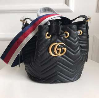 "Gucci ""GG Marmont"" quilted leather bucket bag"